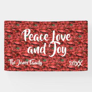 Lona Amor y alegría de la paz del Poinsettia