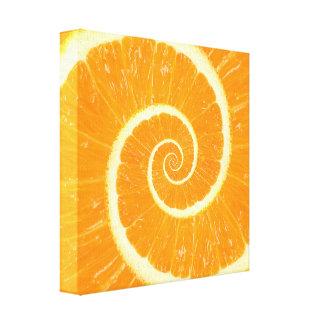 Lona anaranjada de Droste de la fruta cítrica Impresiones En Lona
