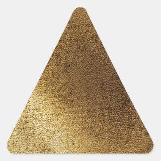 Lona apenada marrón artístico del oro del vintage pegatina triangular