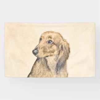Lona Arte original de pintura del perro) 2 de pelo