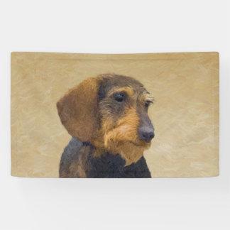 Lona Arte original de pintura (Wirehaired) del perro