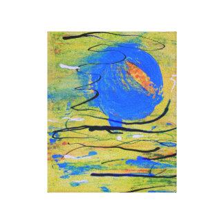 Lona azul de la bola lienzo