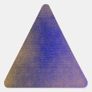 Lona azul pegatina triangular