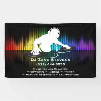 Lona Bandera de giro del vinilo de DJ