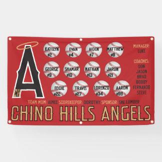 Lona Bandera de los ángeles de Chino Hills