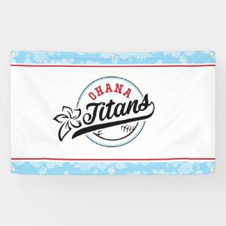 Lona Bandera de los titanes de Ohana