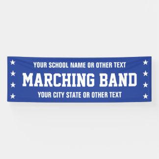 Lona Bandera del desfile de la banda con el texto de