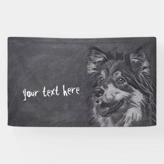 Lona Bandera del personalizado de la pintura del perro