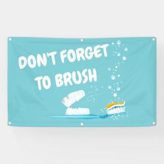 Lona Bandera promocional de la clínica dental del