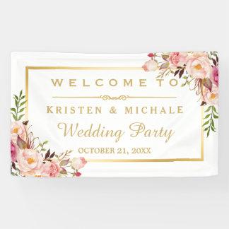 Lona Banquete de boda floral elegante elegante del