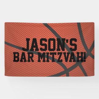 Lona Barra personalizada Mitzvah del baloncesto