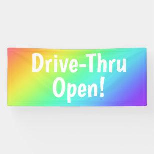 Lona ¡Circuito arcoiris abierto! Banner comercial