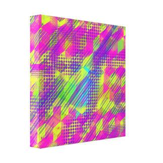 Lona colorida de las formas 12x12 lona estirada galerías