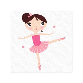 Lona con poco balerina impresión en lienzo
