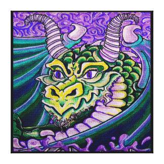 lona (cuadrada) ascendente cercana del dragón impresiones en lona estiradas