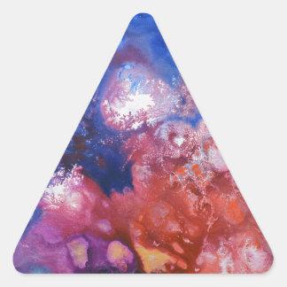 Lona curativa #1 de las energías pegatina triangular