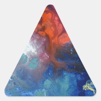 Lona curativa número 3 de las energías pegatina triangular