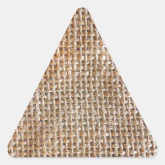 Lona de algodón pegatina triangular