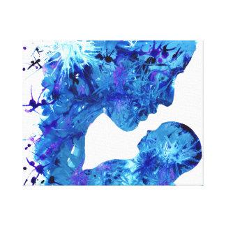 Lona de arte de las tintas del acrílico de la impresion de lienzo