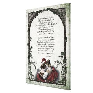 """Lona de arte del Victorian del """"amor"""" de Rossetti Impresión En Lona"""