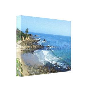 Lona de Corona del Mar California Lona Envuelta Para Galerías