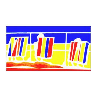 Lona de Deckchairs de la playa Lienzo