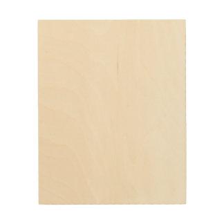 Lona de encargo de madera 8x10 impresión en madera