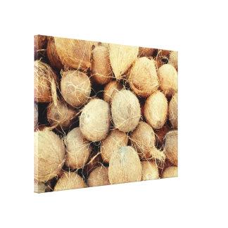 Lona de la foto de los cocos lienzo