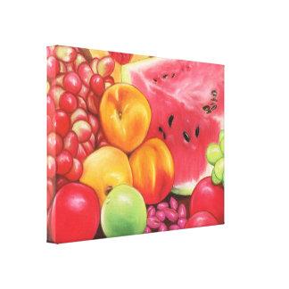 Lona de la fruta impresión en lona