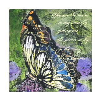 Lona de la mariposa impresión de lienzo