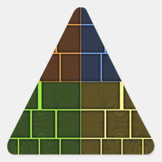 Lona de la pared pegatina triangular