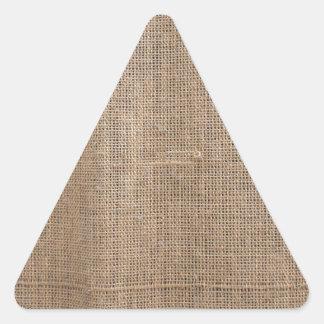 Lona de la textura de la arpillera pegatina triangular