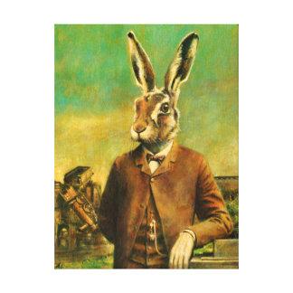 Lona de las liebres del Victorian del vintage Impresión En Lienzo