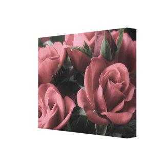 Lona de los rosas del vintage impresión en lienzo