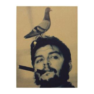 Lona de madera de Poo Che Guevara de la paloma Cuadro De Madera