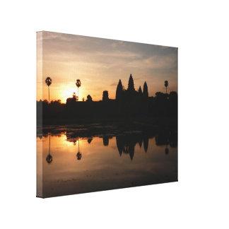lona de oro de Angkor Wat Lona Estirada Galerias