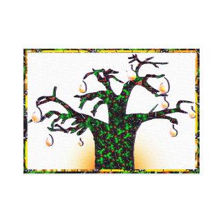 Lona del árbol de navidad impresión en lienzo