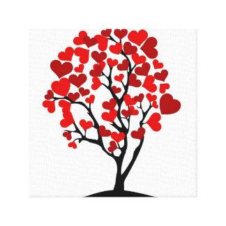 Lona del árbol del corazón lienzo