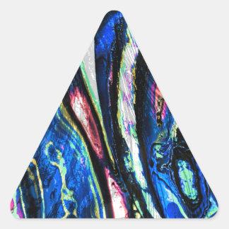 Lona del arte contemporáneo pegatina triangular