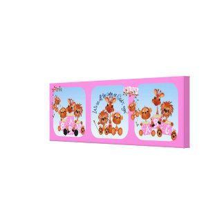 Lona del cuarto de niños de los animales del safar lienzo
