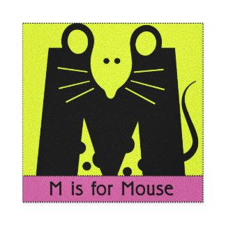 Lona del cuarto de niños del ratón impresión en lienzo