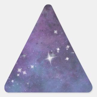 Lona del espacio pegatina triangular