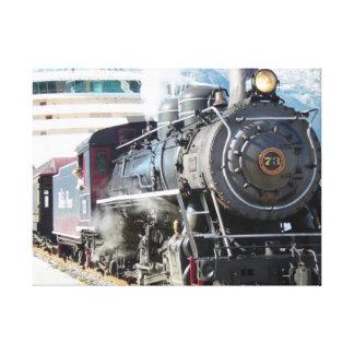 Lona del motor de vapor lienzo