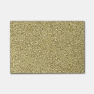 Lona del oro notas post-it®