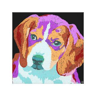 Lona del perrito del beagle impresión de lienzo