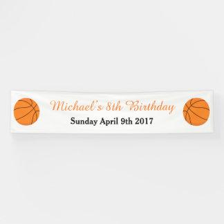 Lona El baloncesto se divierte cumpleaños anaranjado