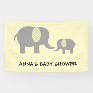 Lona Elephant Baby Shower - Yellow and Gray