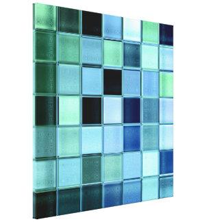 Lona envuelta arte de cristal del mosaico del Aqua Impresión De Lienzo