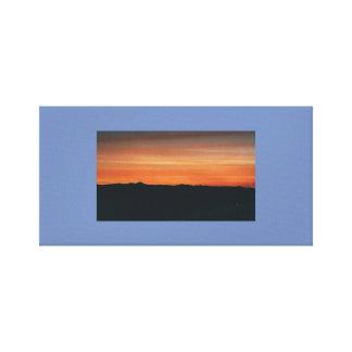 Lona envuelta con escena de la puesta del sol lienzo