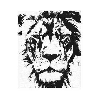 Lona envuelta con una impresión blanco y negro Leo